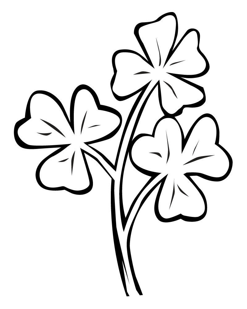 Clover Clipart Black And White (83+ images in Collection) Page 1.