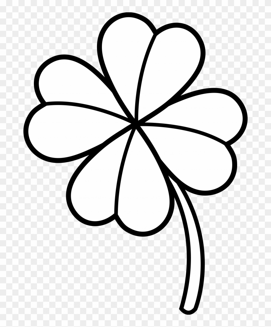 Clover Clipart Black And White.