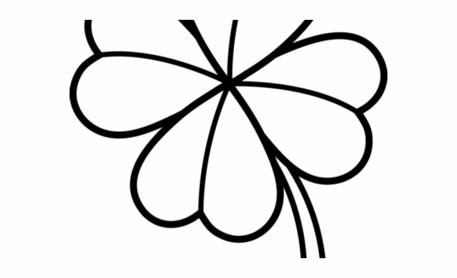 Four Leaf Clover Clipart Black And White.