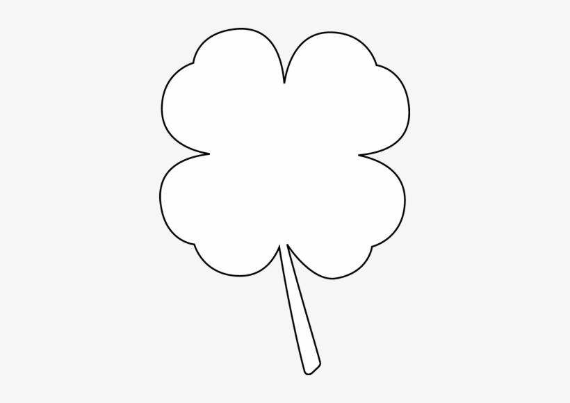 Black And White Four Leaf Clover Clip Art.