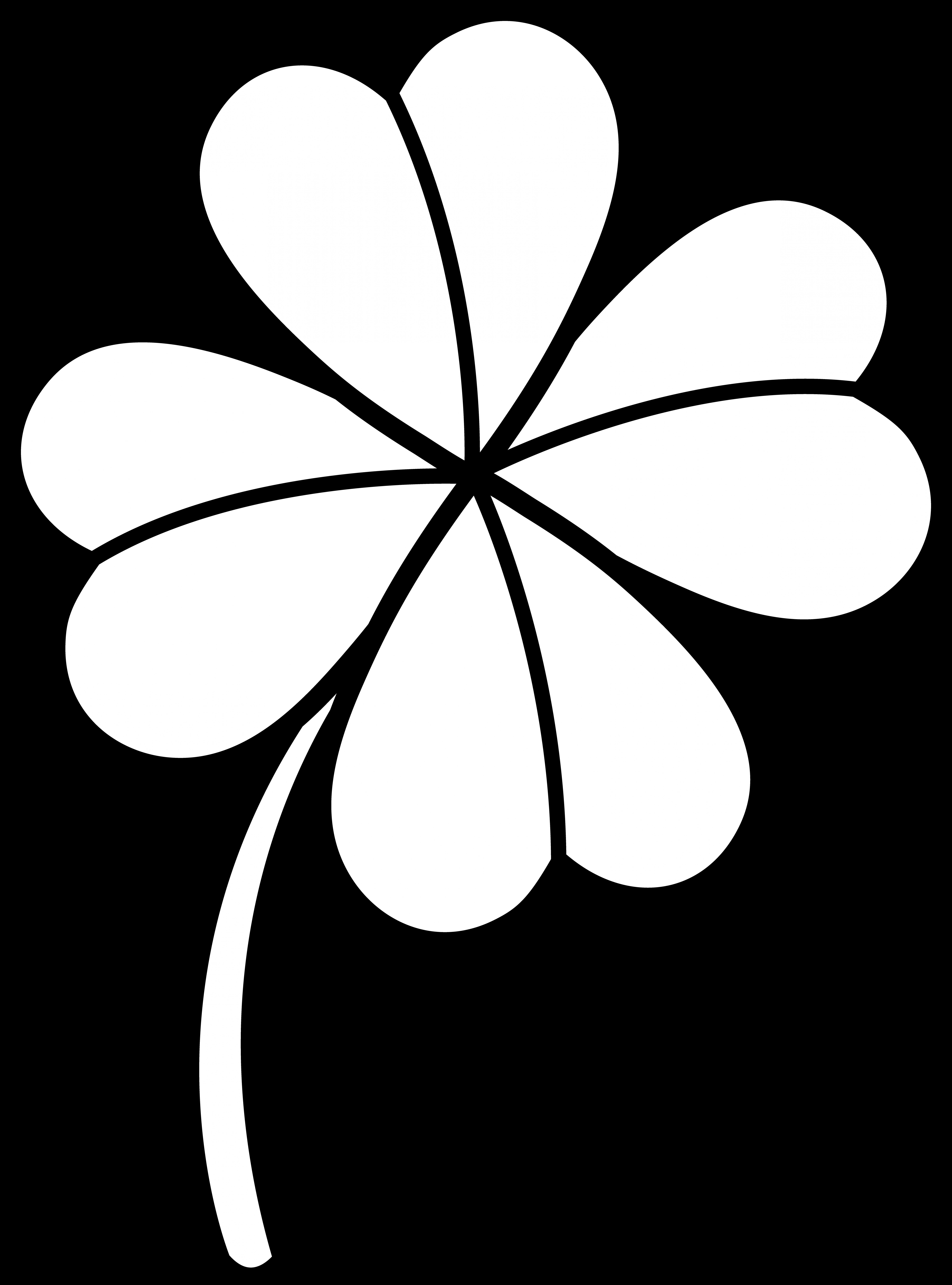 Crown Clover Clipart Black And White.