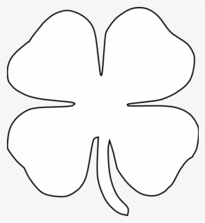 Free Clover Black And White Clip Art with No Background.