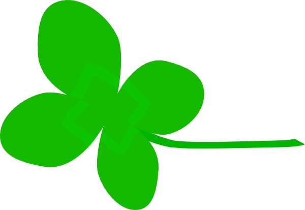 Clover Flower clip art Free vector in Open office drawing svg.