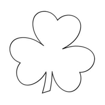 clover outline clip art - Clipground