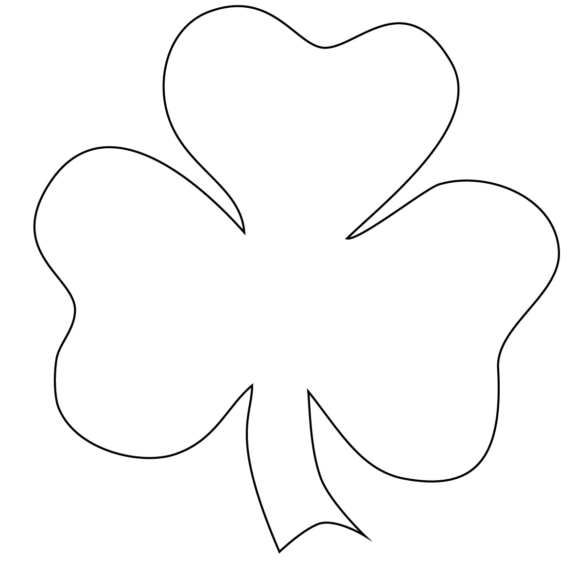 Shamrock Outline Printable.