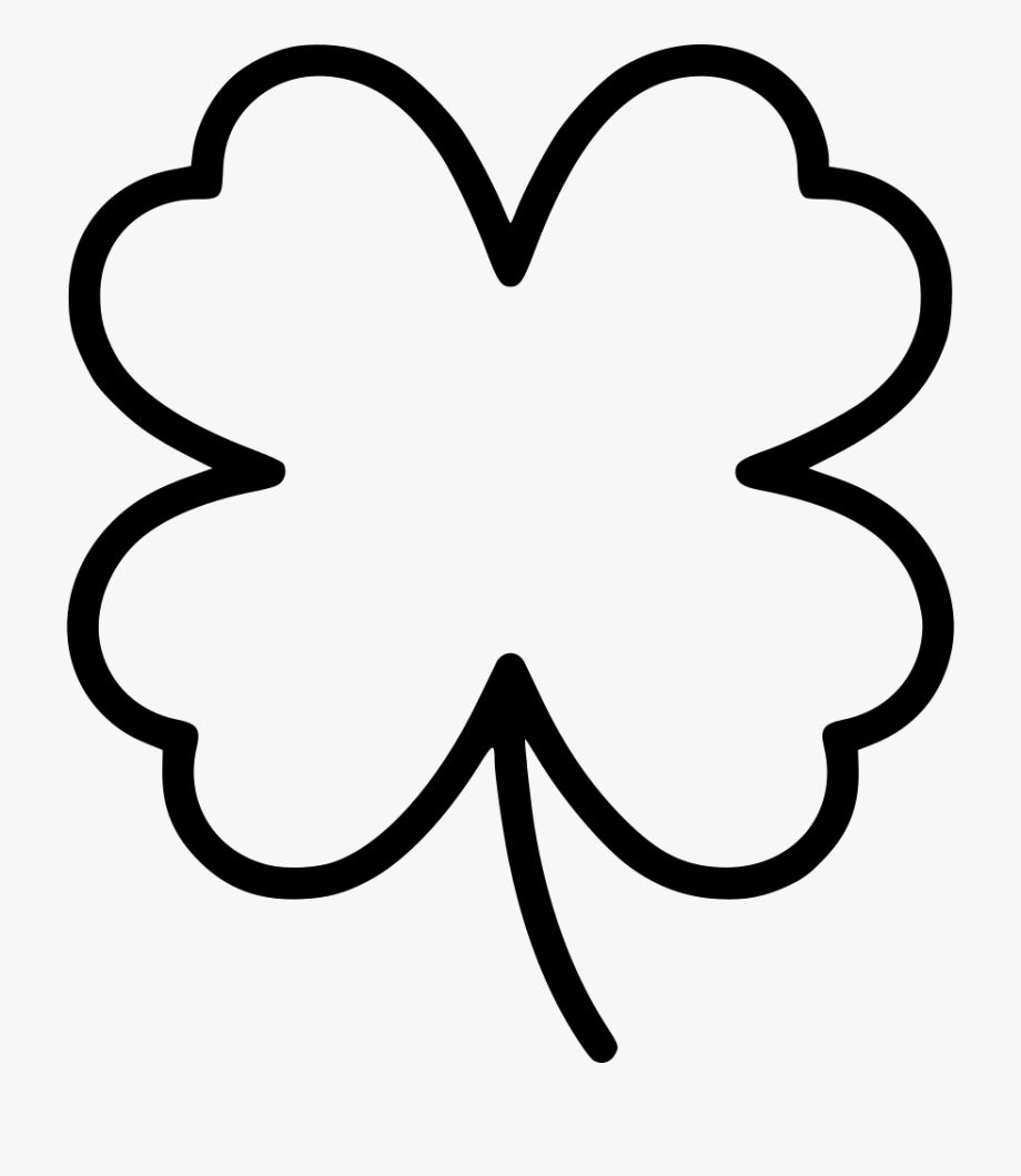 Clover Svg Black And White.