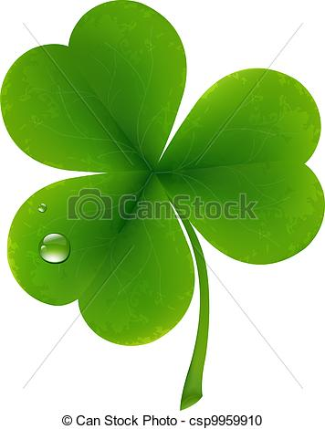 Vector Clipart of Clover Leaf.