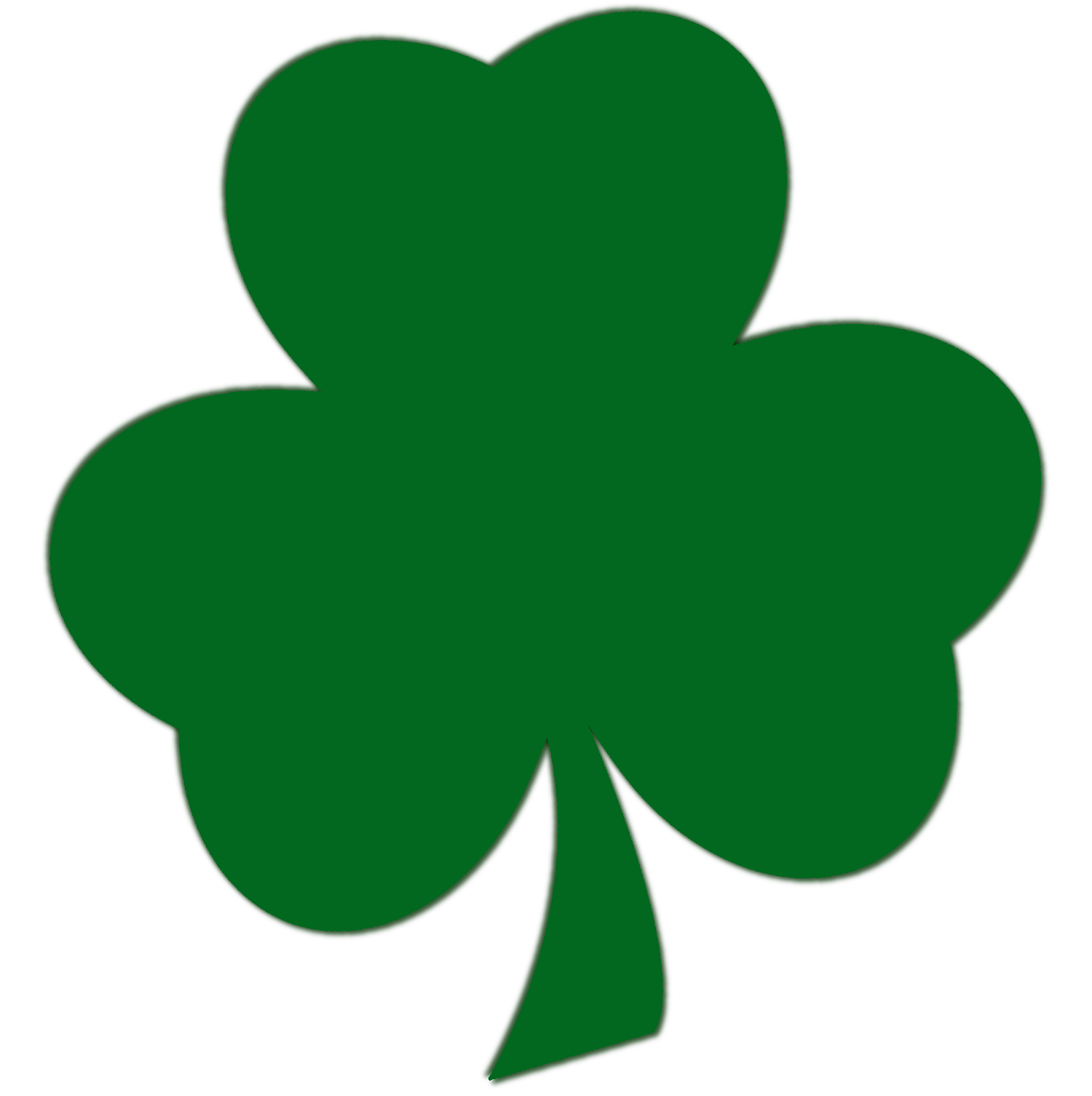 St patricks day clovers clipart.