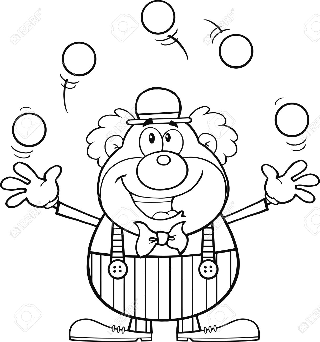 Clown clipart black and white 5 » Clipart Station.