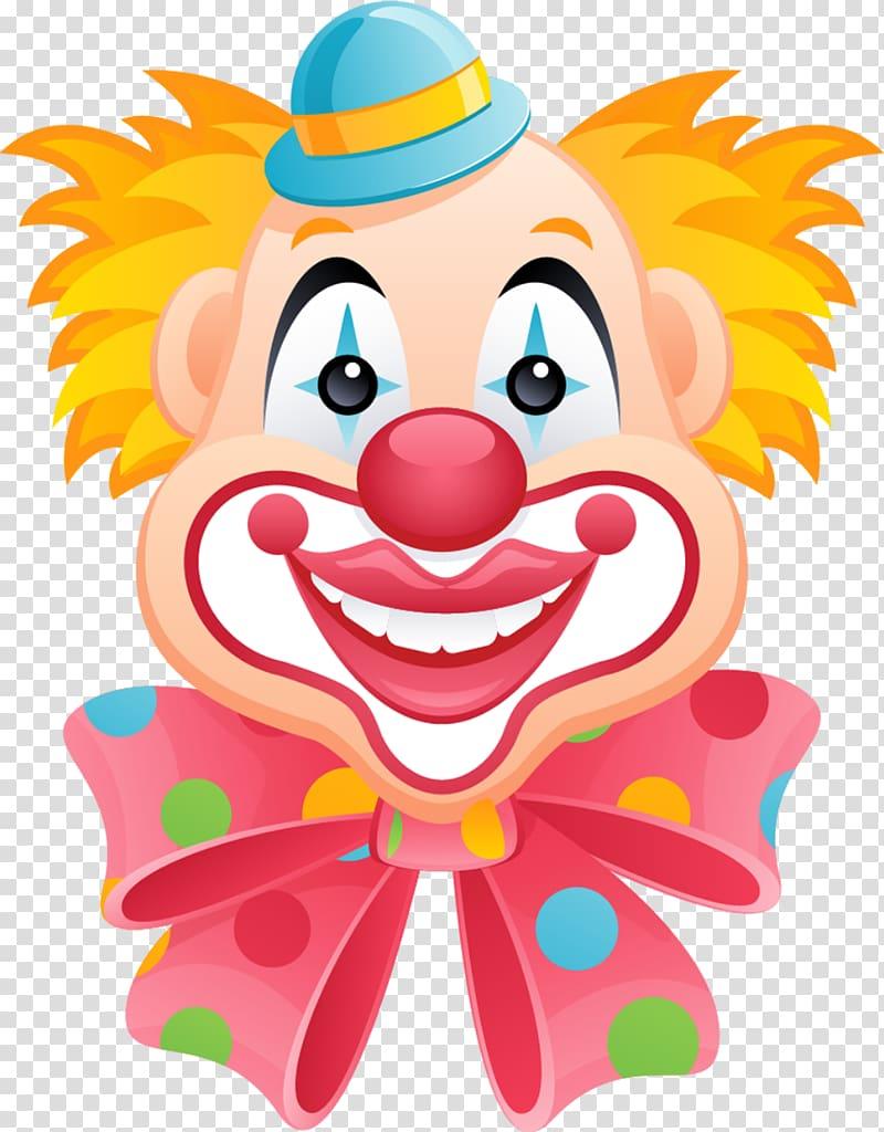 Happy clown illustration, Clown Circus Cartoon , clown transparent.