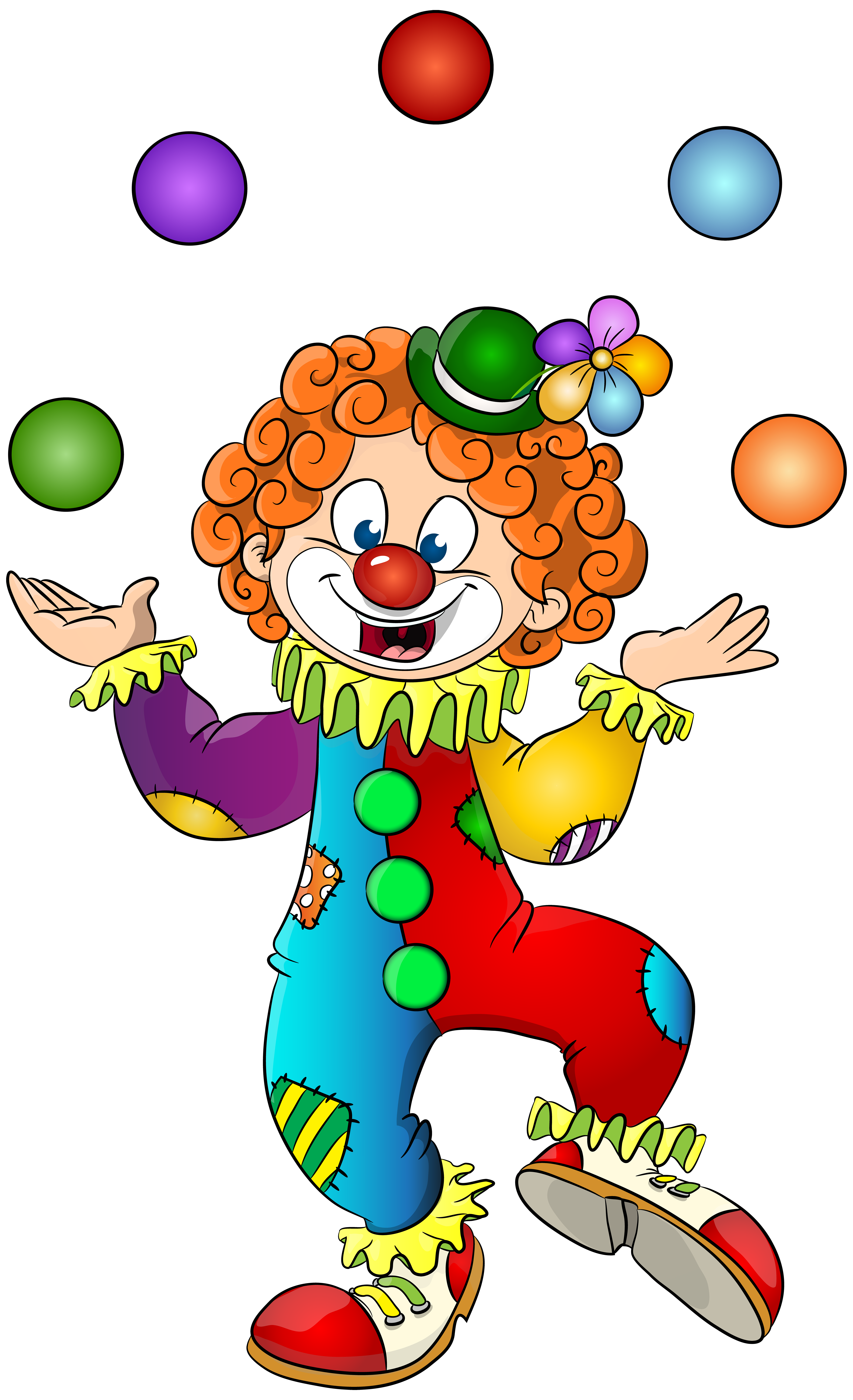 Clown Transparent Clip Art Image.