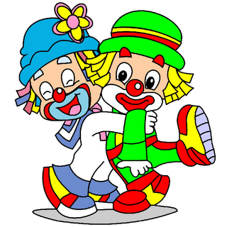 cute cartoon clowns.