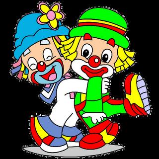 cute cartoon clowns.