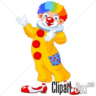 CLIPART SPEAKING CLOWN.