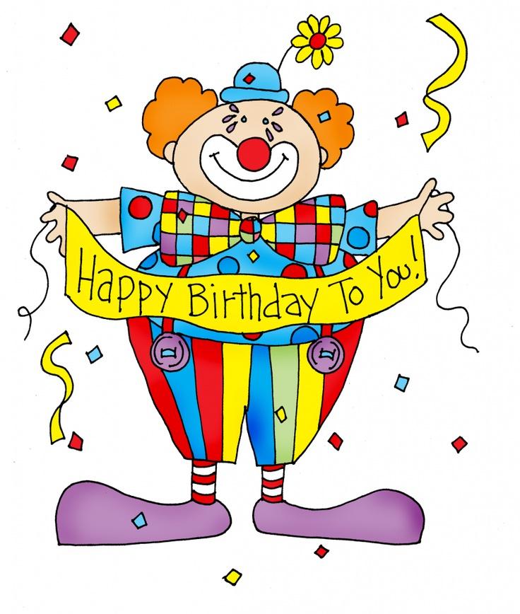 17 Best ideas about Happy Birthday Clown on Pinterest.