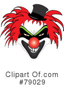 Scary Clown Clipart #1.