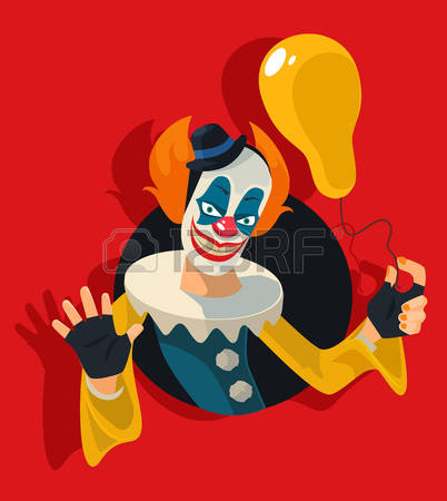 673 Scary Clown Stock Vector Illustration And Royalty Free Scary.