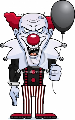 Scary Clown Clipart.