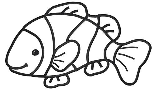 Clown Fish Clip Art Black And White.