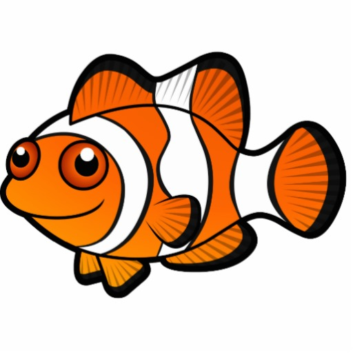 Clownfish clown fish outline clipart 2.