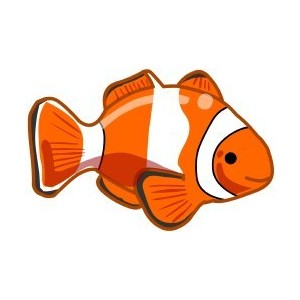 Clown fish clipart.