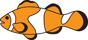 Free Clownfish Clip Art Image.
