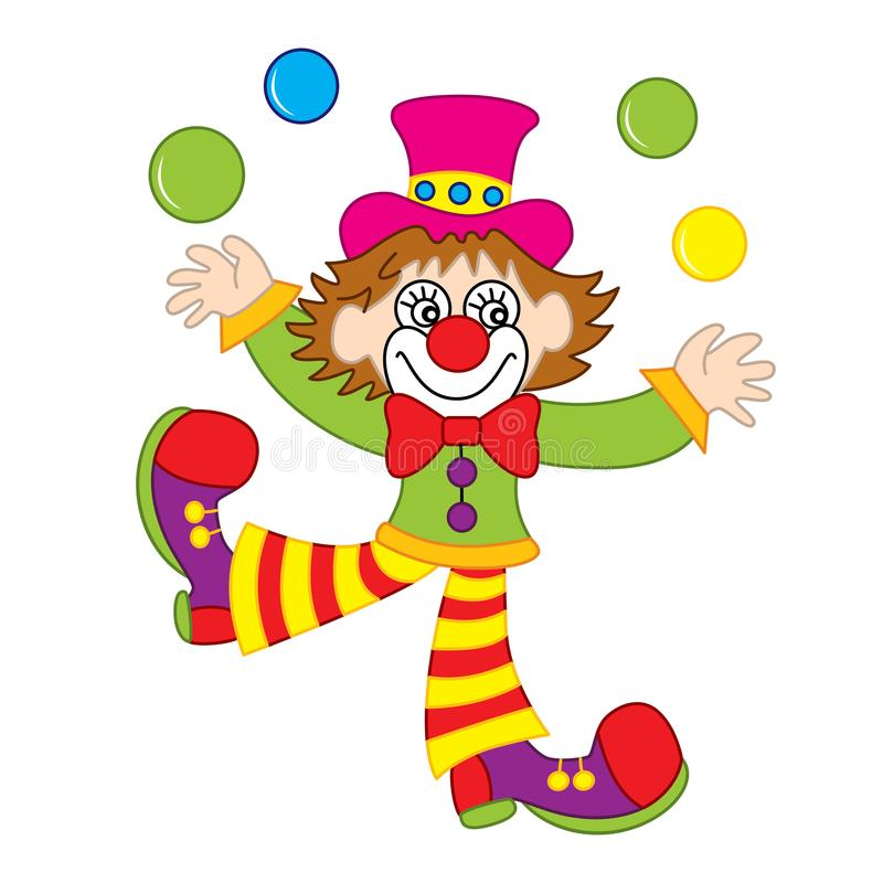 Clown Juggling Stock Illustrations.