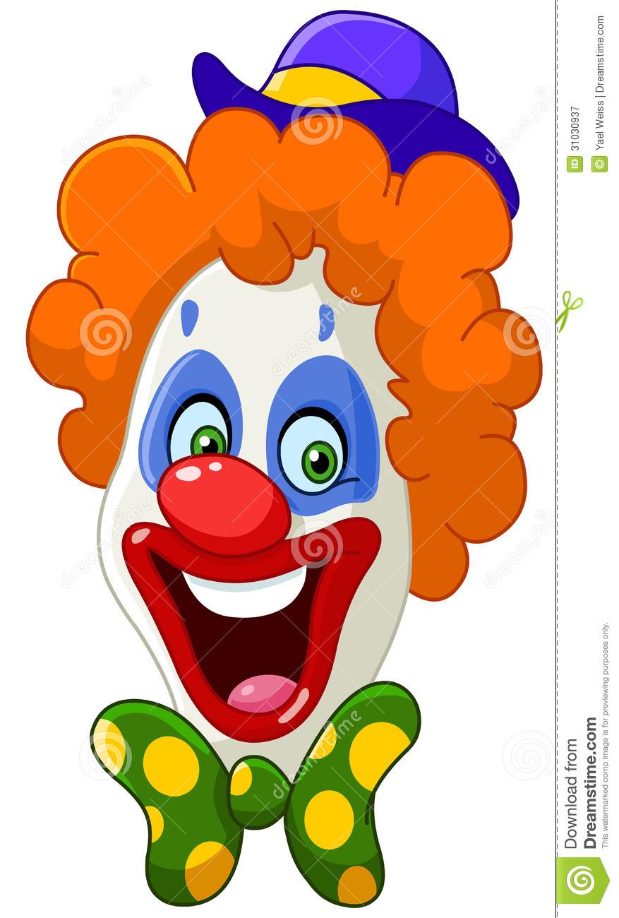 Happy Clown Faces Clipart.