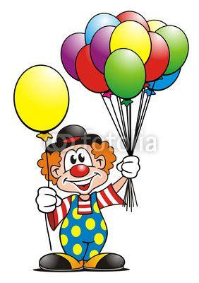 clowns.quenalbertini: Clown with balloons.