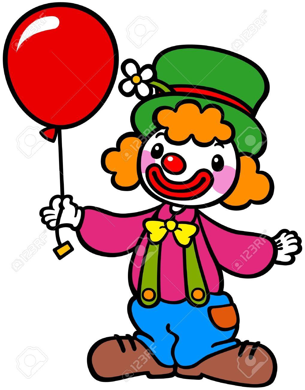 3549 Clown free clipart.