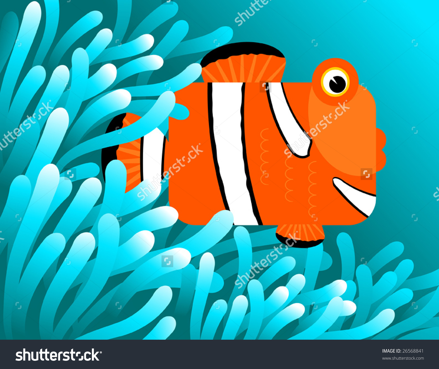Showing post & media for Cartoon sea anemone and clownfish.