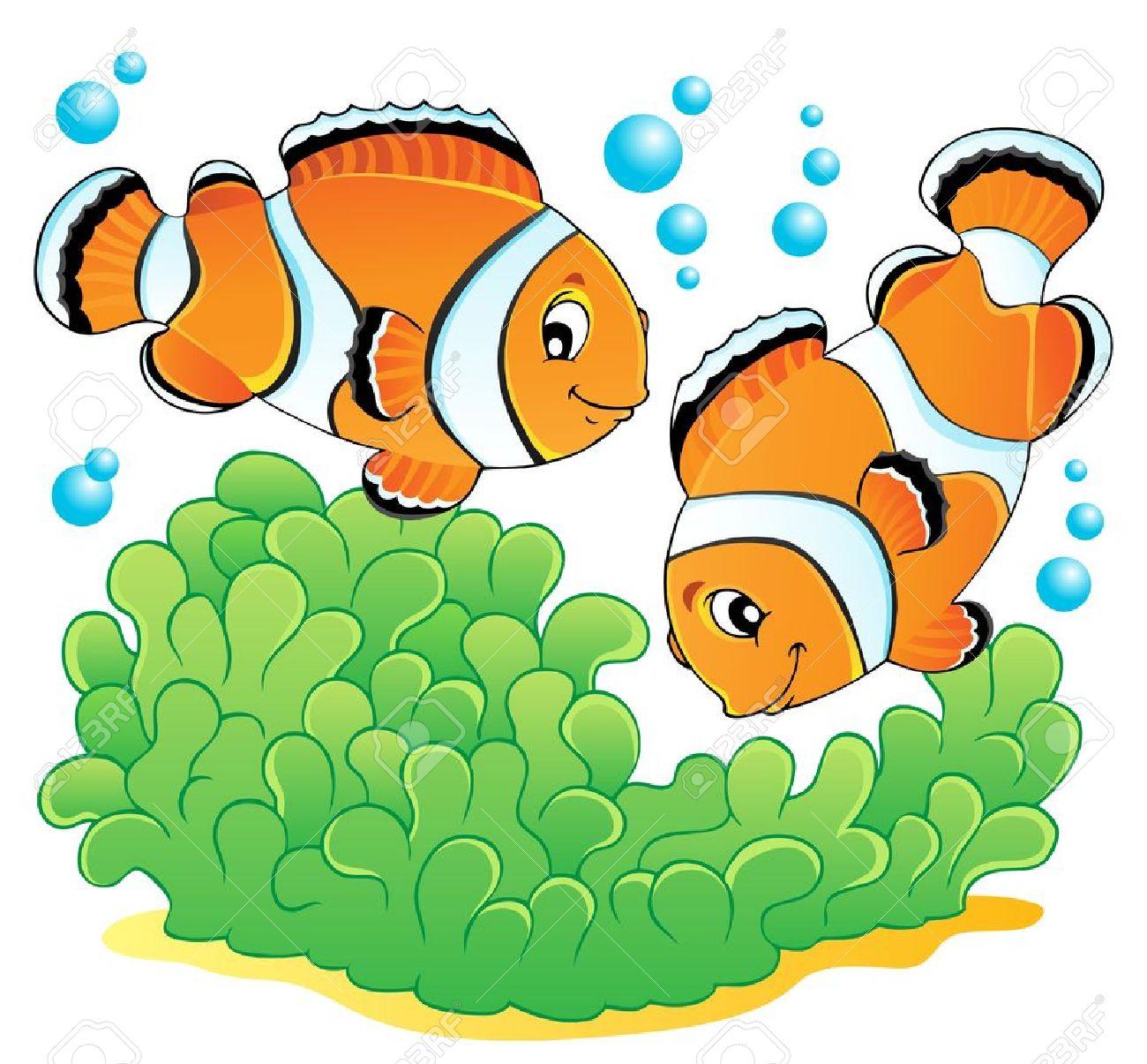 Clown Fish Theme Image 1 Illustration Royalty Free Cliparts.