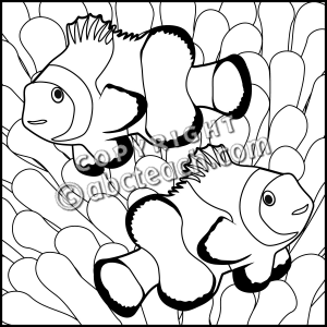 Clown Fish Clip Art.