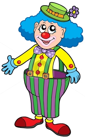 Funny Clown Clipart.