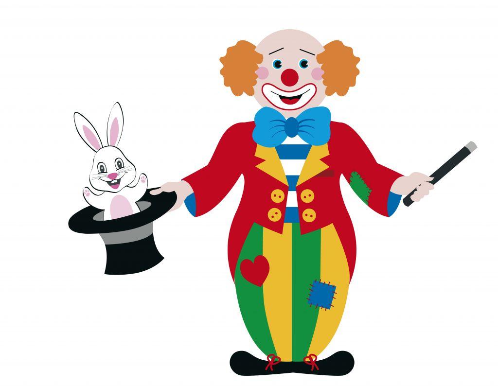 Cartoon Clowns Clipart.
