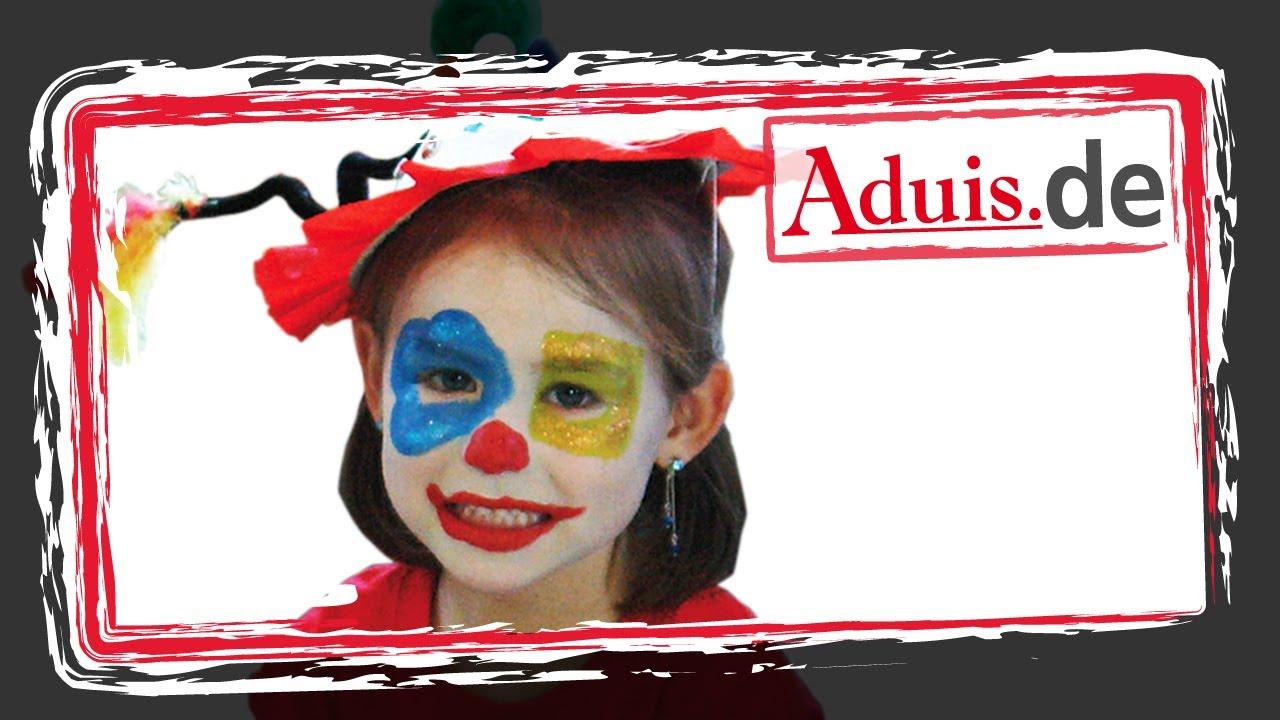 Anleitung Kinderschminken Clown.