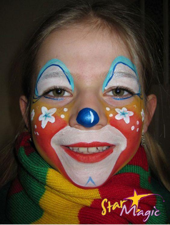 Clown schminken voor Carnaval.