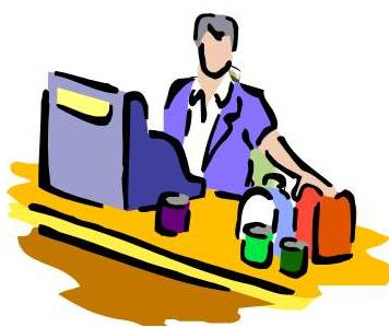 Checkout Clerks Clipart.