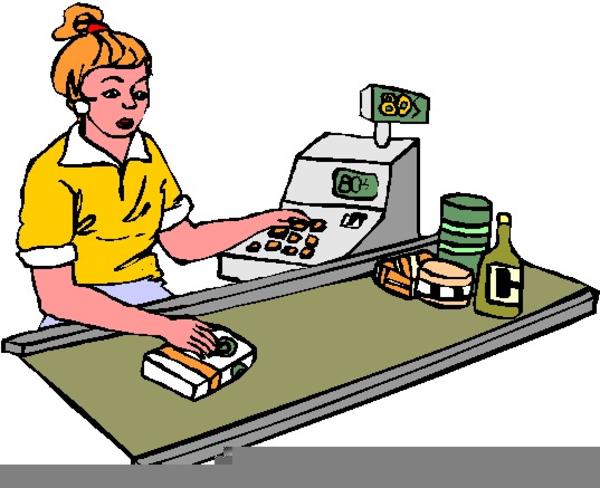 Store Clerk Clipart.