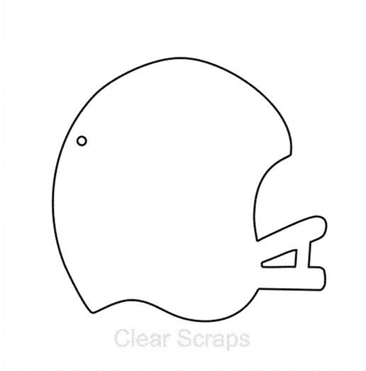 Football Helmet Template http://store.scrapbook.com/cls csmnhelmet.