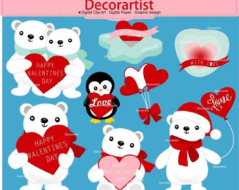 ON SALE Valentine's day clip art instant by Decorartistclipart.