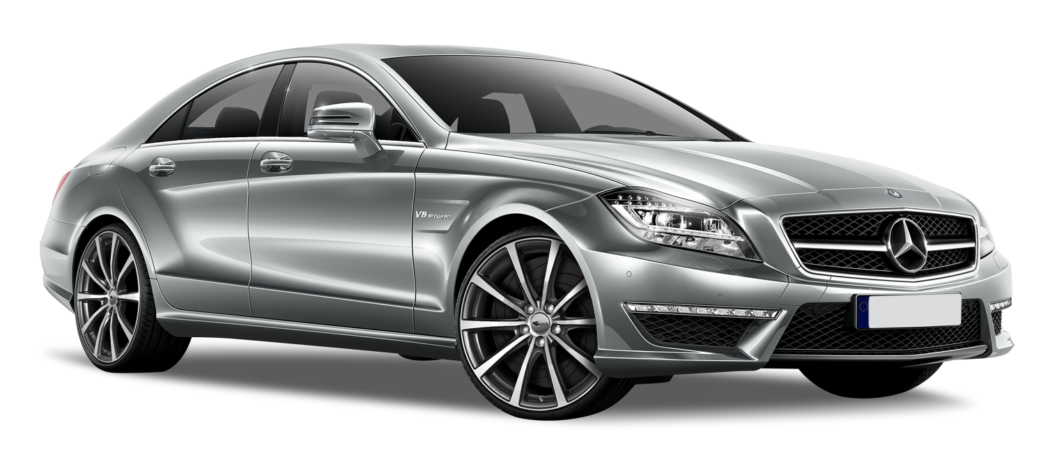 Silver Mercedes CLS 2014 Car PNG Clipart.