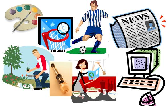 Club activities clipart.