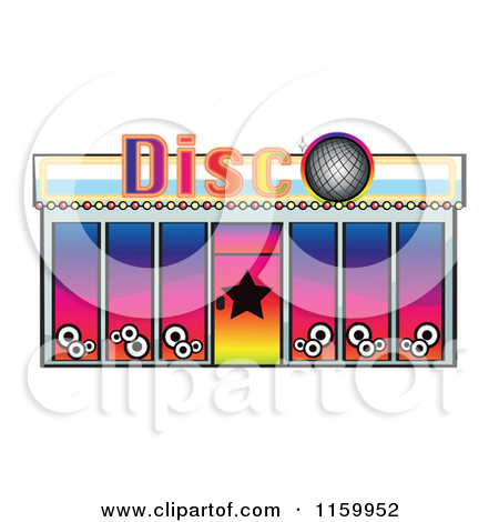 Nightclub building clipart.