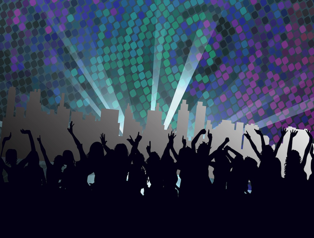 11 Night Club Vector Art Images.