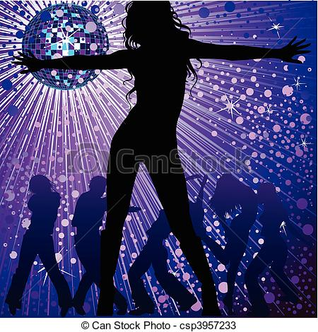 Night Club Dance Clip Art.