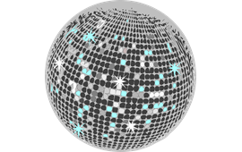 Disco Ball Glitter Party Club PNG.