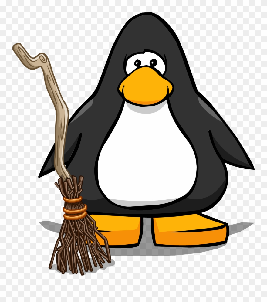 Svg Free Broom Transparent Club Penguin.