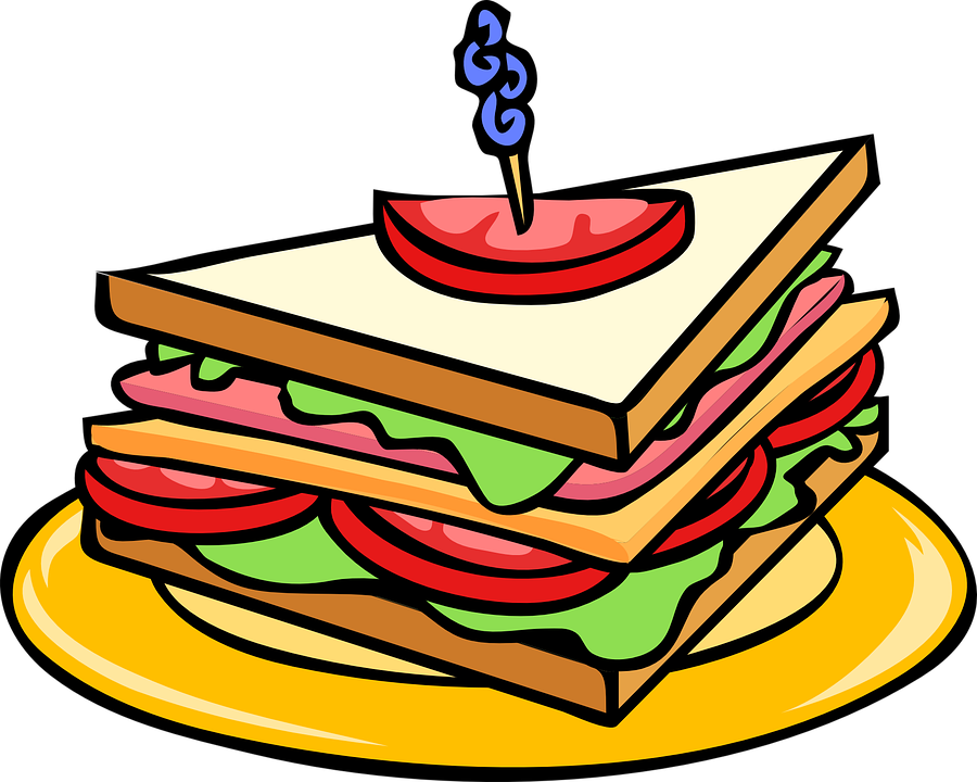 Free vector graphic: Club Sandwich, Triangle, Food.