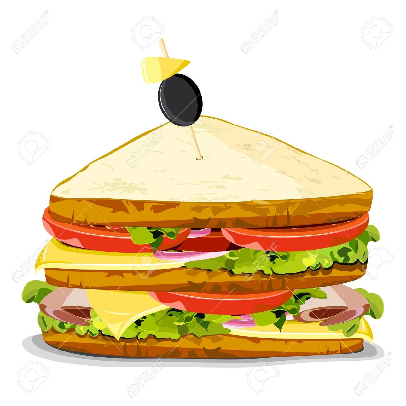 Illustration Of Yummy Sandwich On An Isolated Background Royalty.
